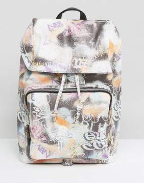 Asos Backpack With All Over Graffiti Design