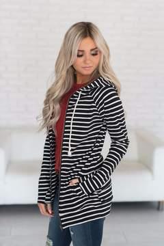 Ampersand Avenue FullZip Hoodie - Black Stripe