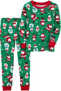 Carter's Baby Unisex Santa & Snowman Pajama Set