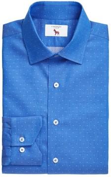 Lorenzo Uomo Men's Trim Fit Dot Dress Shirt