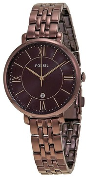 Fossil Jacqueline Wine Dial Ladies Casual Watch