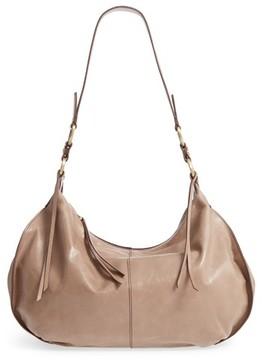 Hobo Lennox Leather Shoulder Bag - Grey