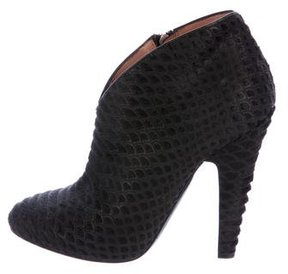 Alaia Ponyhair Pointed-Toe Boots