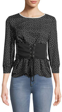 Collective Concepts Corseted Crepe Blouse