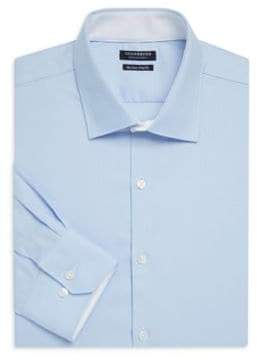 Tailorbyrd Winnfield Trim-Fit Herringbone Cotton Dress Shirt