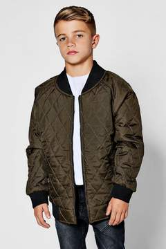 boohoo Boys Padded Quilted Bomber Jacket