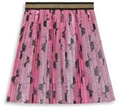 Gucci Little Girl's& Girl's Lurex Bows Pleated Skirt