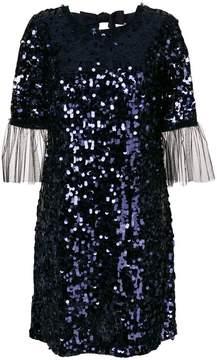 Blumarine tulle cuff sequin mini dress