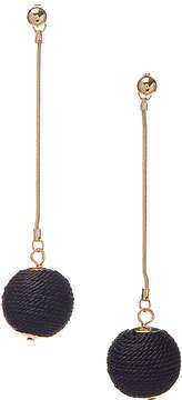 Carole Black & Goldtone Ball Drop Earrings