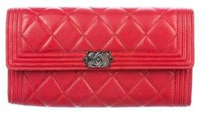 Chanel Quilted Boy Continental Wallet