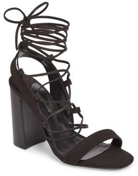 Tony Bianco Women's Dani Ghillie Flared Heel Sandal