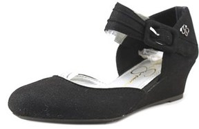 Jessica Simpson Tatiana Youth Open Toe Synthetic Black Wedge Heel.