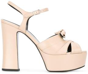 Saint Laurent Candy 80 bow sandals