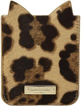 Kate Spade Leopard Sticker Pocket Wallet - MULTI - STYLE