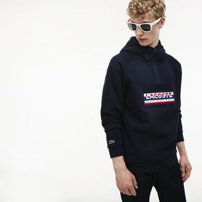 Lacoste Men's Hooded Embroidery Two-ply Jersey Sweatshirt
