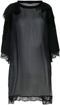Amen sheer embellished blouse