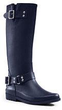 Lands' End Women's Tall Rain Boots-Medium Indigo Denim