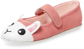 Emu Rabbit Graphic Suede Ballet Flat