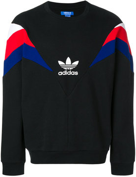 adidas striped sleeve sweatshirt