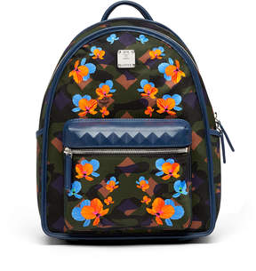 MCM Dieter Backpack In Floral Camo Nylon