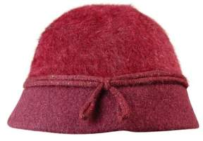 Nine West Women's Metallic Angora Cloche Hat (OS, Burgundy)