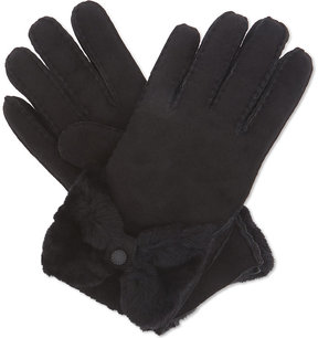 UGG Sheepskin bow-detail gloves