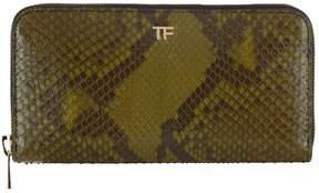 Tom Ford Python Zip-Around Wallet