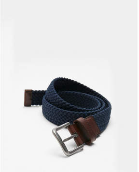 Express navy web stretch belt