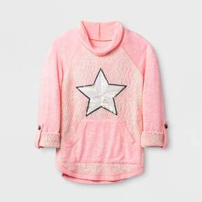 Miss Chievous Girls' Long Sleeve Sweatshirt - Coral