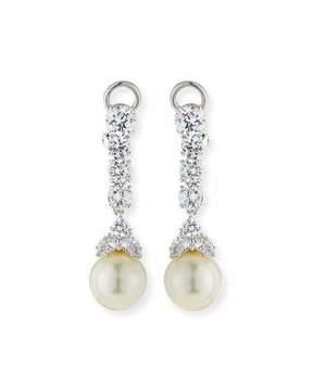 FANTASIA CZ & Simulated Pearl Long Drop Earrings