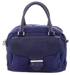 Tod's Leather-Trimmed Nylon Satchel