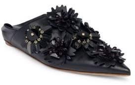 Marni Embellished Leather Mules