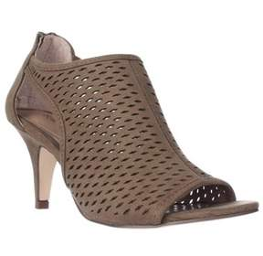 Style&Co. Sc35 Haddiee Perforated Caged Peep Toe Heels, Sage.