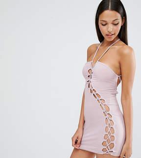 Club L Sexy Dare Mini Dress with Lattice Detail