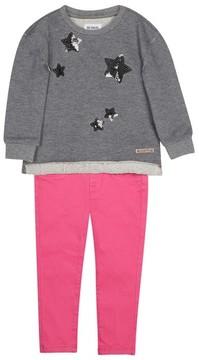 Hudson Infant Girl's Sweatshirt & Pants Set