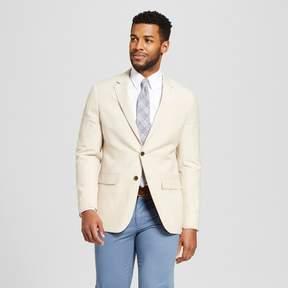 Merona Men's Slim Fit Linen Suit Coat Khaki