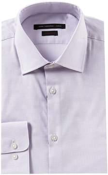John Varvatos Regular Fit Spread Collar Houndstooth Dress Shirt