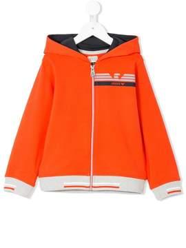 Emporio Armani Kids colour-block zip-up hoodie