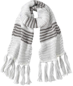 Joe Fresh Women's Stripe Knit Scarf, Grey (Size O/S)