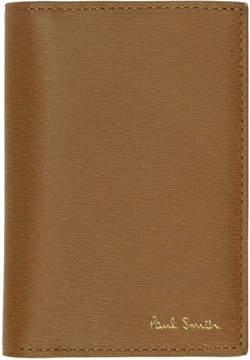 Paul Smith Brown Saffiano Bifold Card Holder