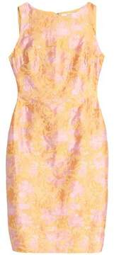 Badgley Mischka Floral-Jacquard Dress
