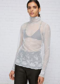 Ann Demeulemeester Sheer Lace Turtleneck