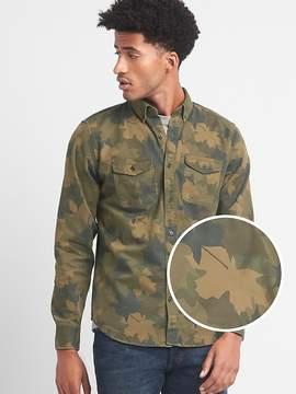Gap Camo leaf standard fit work shirt