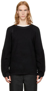 Helmut Lang Black Combo Crewneck Sweater