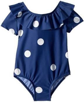 Mini Rodini Dot Short Sleeve Swimsuit Girl's Swimsuits One Piece
