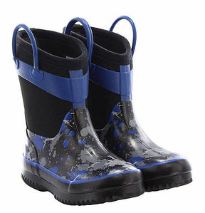 Western Chief Black & Blue Camo Neoprene Rain Boot - Boys