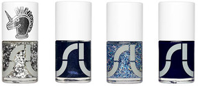 Dark Blue Nail Polish Collection Starry Night