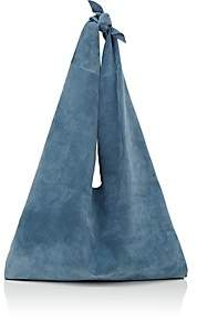 The Row Women's Bindle Suede Shoulder Bag - Lt. Blue