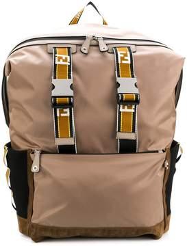 Fendi logo zipped backpack