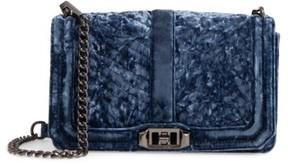 Rebecca Minkoff Love Velvet Quilted Crossbody Bag - Blue